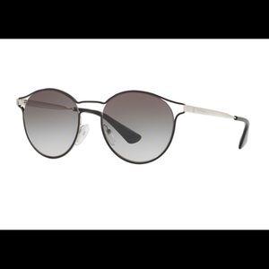 Prada 62S Silver and Black Sunglasses